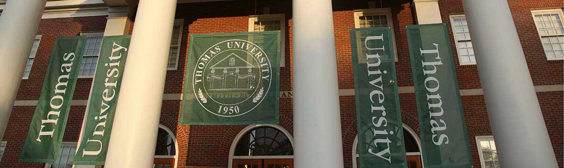 About Thomas University banners