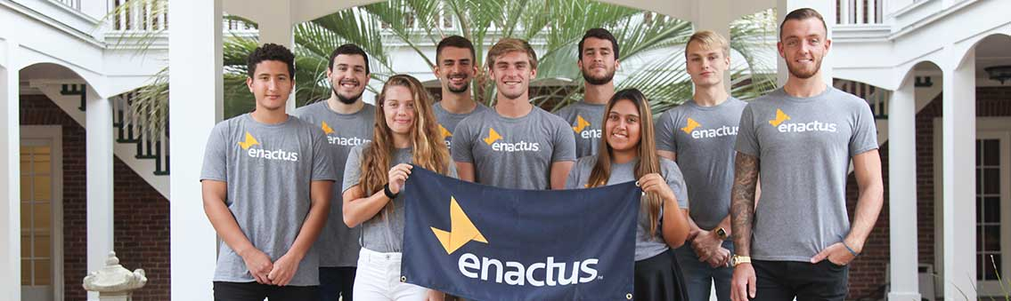 ENACTUS students with scholarships