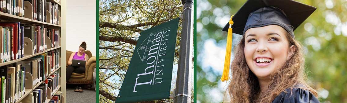 Thomas University library - banner - graduate