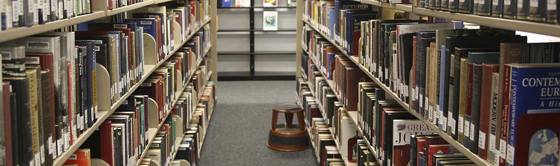 Thomas University Library book stacks