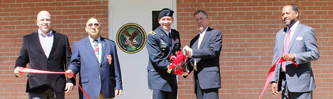 Center for military life ribbon cutting